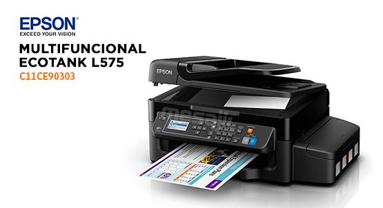 IMPRESORA EPSON L575 Multifuncional Wifi/Fax/ADF SIC